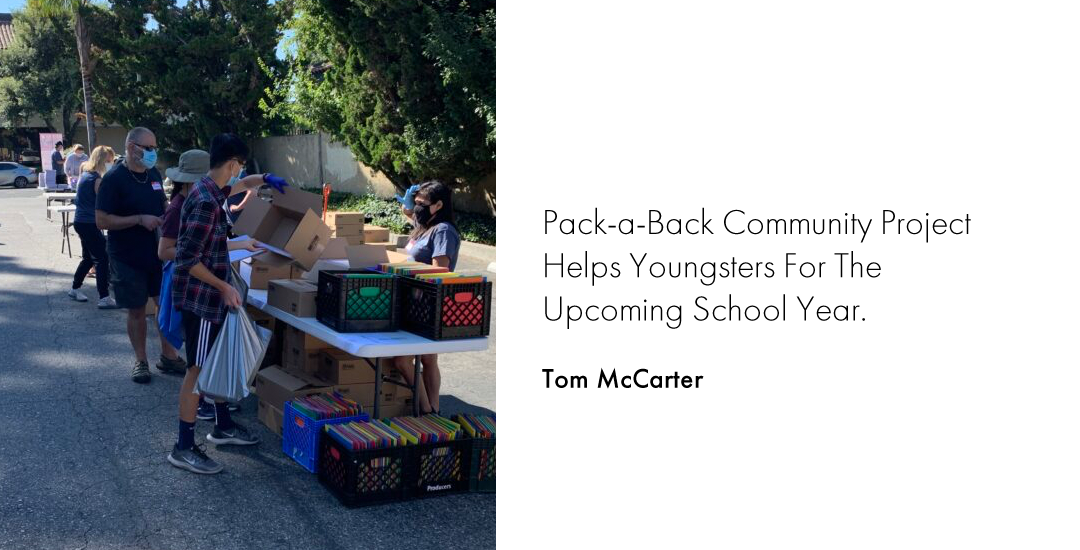 Pack-a-Back Community Project Helps Youngsters For The Upcoming School Year